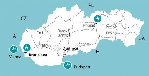 Mapa - Kúpele Dudince