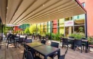 letná terasa reštaurácie Rubín